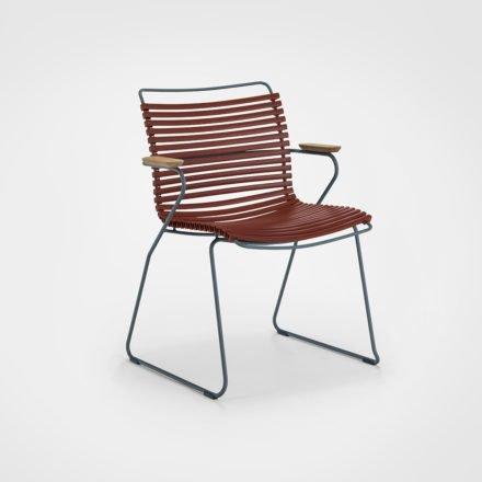 """Stuhl """"Click"""" von Houe, mit Armlehnen, Farbe paprika"""