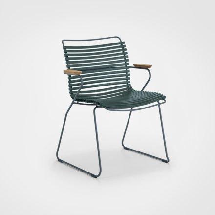 """Stuhl """"Click"""" von Houe, mit Armlehnen, Farbe pine green"""