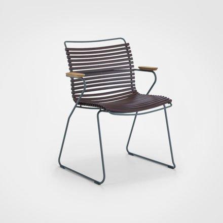 """Stuhl """"Click"""" von Houe, mit Armlehnen, Farbe plum"""
