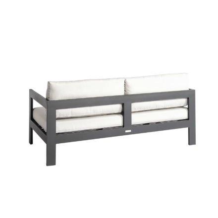 "Jati&Kebon ""Vigo"" 2-Sitzer Loungesofa, Gestell Aluminium eisengrau mit Sitz- und Rückenkissen shingles"