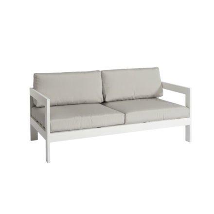 """Jati&Kebon """"Vigo"""" 2-Sitzer Loungesofa, Gestell Aluminium weiß mit Sitz- und Rückenkissen shingles"""