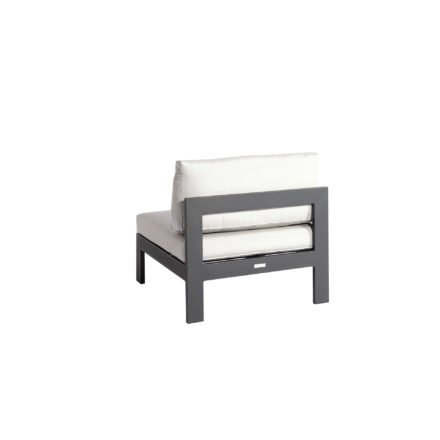 """Jati&Kebon """"Vigo"""" Lounge-Mittelteil, Gestell Aluminium eisengrau mit Sitz- und Rückenkissen shingles"""