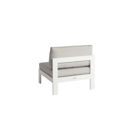 """Jati&Kebon """"Vigo"""" Lounge-Mittelteil, Gestell Aluminium weiß mit Sitz- und Rückenkissen shingles"""