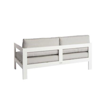 """Jati&Kebon """"Vigo"""" Lounge-Seitenteil links, Gestell Aluminium weiß mit Sitz- und Rückenkissen shingles"""