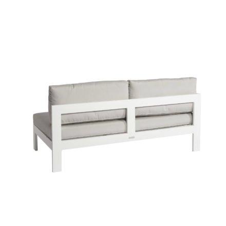 """Jati&Kebon """"Vigo"""" Lounge-Seitenteil rechts, Gestell Aluminium weiß mit Sitz- und Rückenkissen shingles"""