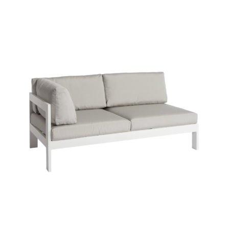 """Jati&Kebon """"Vigo"""" Lounge-Seitenteil rechts, Gestell Aluminium weiß mit Sitz-, Rücken- und Ergänzungskissen shingles"""
