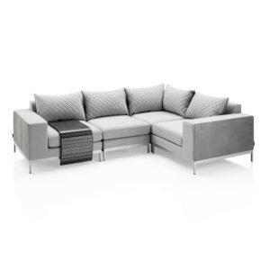"""Kettler """"Ego Modular"""" Loungegruppe bestehend aus 2 Seitenteilen, Mittelteil, Eckteil sowie flexiblem Tablett"""