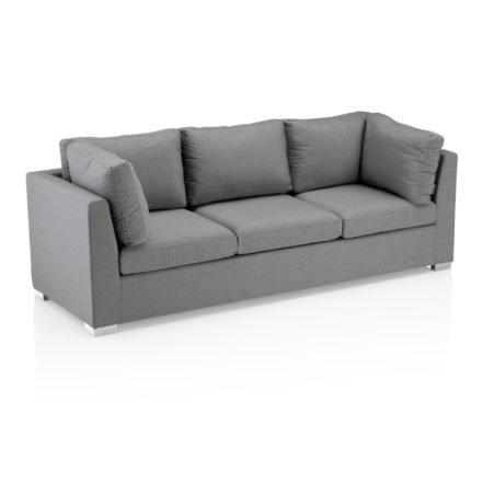 "Kettler ""Lavi"" Sofa 3-sitzig, Aluminium Untergestell mit Sunbrella® Polsterstoff hellgrau-meliert"