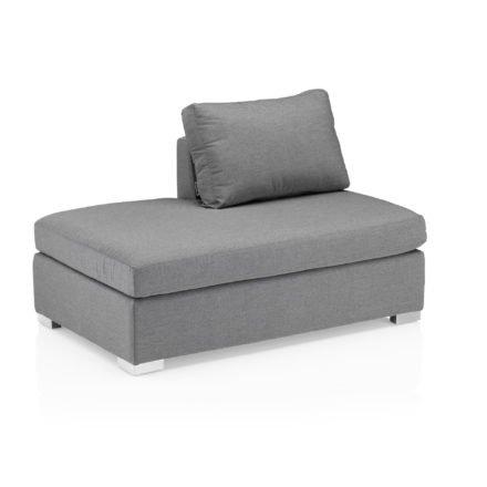 """Kettler """"Lavi"""" Chaise Lounge, Aluminium Untergestell mit Sunbrella® Polsterstoff hellgrau-meliert"""