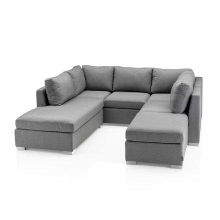 """Kettler """"Lavi"""" Loungeset, bestehend aus 3-Sitzer Sofa, Chaise Lounge, Mittelteil und Hocker"""