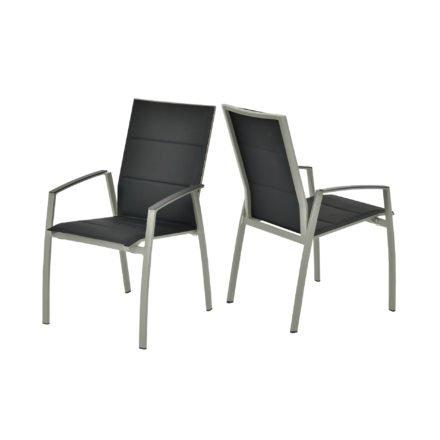 """SIT Mobilia Hochlehner """"Argentina II"""", Gestell Aluminium polarsilber, Polsterung Textilen schwarz"""