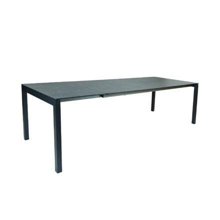 "SIT Mobilia ""Etna"" Ausziehtisch, Gestell Aluminium eisengrau, Tischplatte HPL Oxido Bluestone"