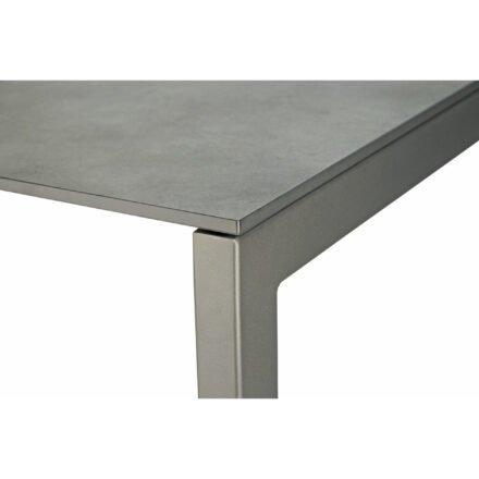 "SIT Mobilia ""Etna"" Ausziehtisch, Gestell Aluminium eisengrau, Tischplatte HPL oxido grisalo, Detail"