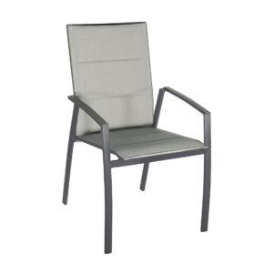 "SIT Mobilia Hochlehner ""Argentina II"", Gestell Aluminium eisengrau, Polsterung Textilen silber"