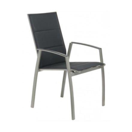 """SIT Mobilia Hochlehner """"Argentina II"""", Gestell Aluminium silber, Polsterung Textilen schwarz"""