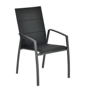"""SIT Mobilia Hochlehner """"Argentina II"""", Gestell Aluminium eisengrau, Polsterung Textilen schwarz"""