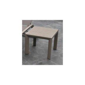 """SIT Mobilia Beistelltisch """"Salta"""", Gestell und Tischfläche Aluminium silber"""