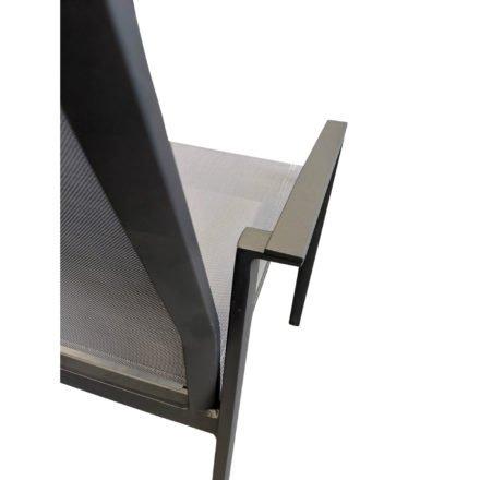 """SIT Mobilia Stapelstuhl """"Argentina II"""", Gestell Aluminium eisengrau, Bespannung Textilen silber"""