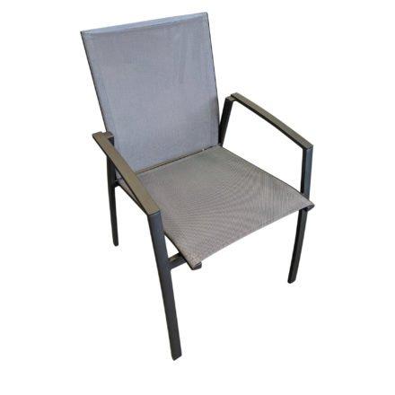 """SIT Mobilia Stapelstuhl """"Argentina"""", Gestell Aluminium eisengrau, Bespannung Textilen silber"""