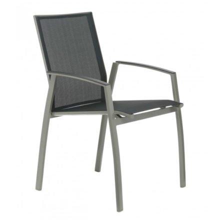 """SIT Mobilia Stapelstuhl """"Argentina II"""", Gestell Aluminium silber, Bespannung Textilen schwarz"""