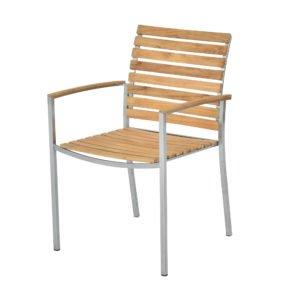 "SIT Mobilia Gartenstuhl ""Granada"", Gestell Edelstahl, Sitzfläche Teakholz"