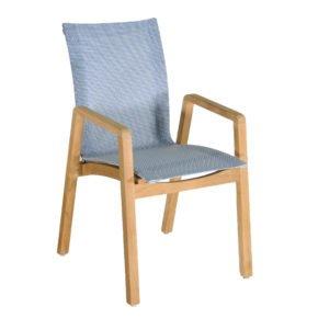 "SIT Mobilia Gartenstuhl ""Mael"", Gestell Teakholz, Sitzfläche Leisuretex Sea Breeze"
