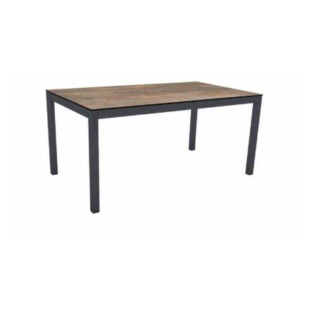 Stern Tischsystem Gartentisch, Gestell Aluminium anthrazit, Tischplatte HPL Ferro, Maße: 160x90 cm