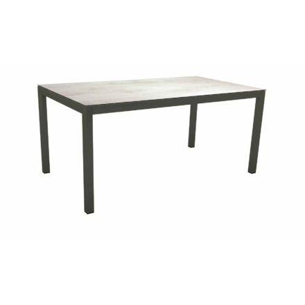Stern Tischsystem Gartentisch, Gestell Aluminium anthrazit, Tischplatte HPL Zement hell, Maße: 160x90 cm