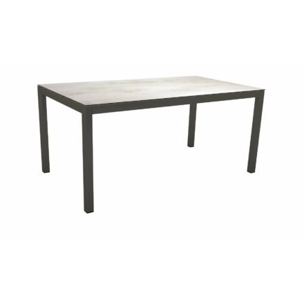 Stern Tischsystem Gartentisch, Gestell Aluminium anthrazit, Tischplatte HPL Zement hell, Maße: 130x80 cm