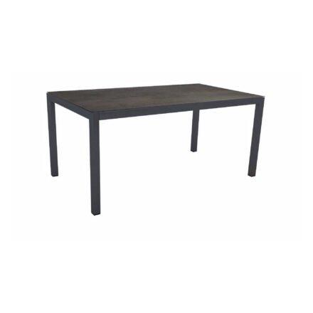 Stern Tischsystem Gartentisch, Gestell Aluminium anthrazit, Tischplatte HPL Nitro, Maße: 160x90 cm