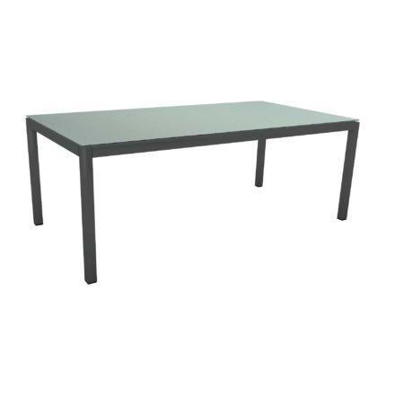 Stern Tischsystem Gartentisch, Gestell Aluminium anthrazit, Tischplatte HPL Nordic green, Maße: 200x100 cm