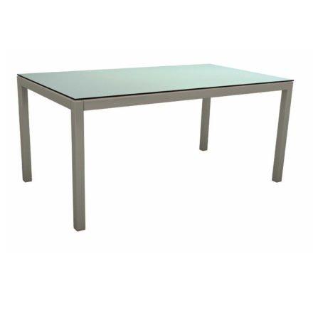 Stern Tischsystem, Gestell Aluminium graphit, Tischplatte HPL Nordic Green, 130x80 cm