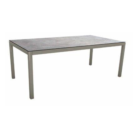 Stern Tischsystem, Gestell Aluminium graphit, Tischplatte HPL Metallic Grau, 200x100 cm