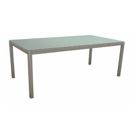Stern Tischsystem, Gestell Aluminium graphit, Tischplatte HPL Nordic Green, 200x100 cm