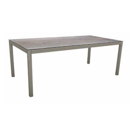 Stern Tischsystem, Gestell Aluminium graphit, Tischplatte HPL Smoky, 200x100 cm