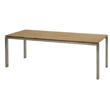 "4Seasons Outdoor ""Goa"" Gartentisch, Gestell Edelstahl, Tischplatte Teakholz, Tischgröße 220x95 cm"