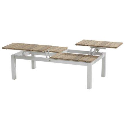 """4Seasons Outdoor Kaffee-Tisch """"Forio"""", Gestell Aluminium Frost grau, Tischplatte Teakholz"""