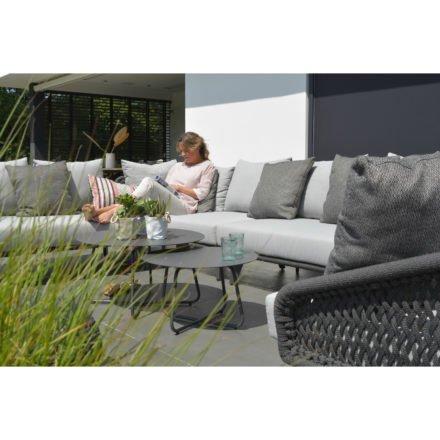 "4Seasons Outdoor Loungeserie ""Belize"" inkl. Kissen, Gestell Aluminium anthrazit, Sitzflächen-Bespannung Rope schwarz"