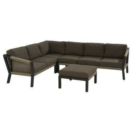 """4Seasons Outdoor Loungeserie """"Oslo"""", Gestell Stahl anthrazit, Bespannung Rope natur"""