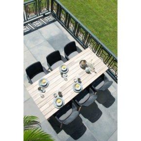 """4Seasons Outdoor Sessel """"Lisboa"""" inkl. Sitzkissen, Gestell Aluminium anthrazit, Sitzfläche Polyloom anthrazit"""