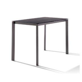 """Sieger """"Bozen"""" Bartisch, Gestell Aluminium eisengrau, Tischplatte HPL Polytec Zement anthrazit"""