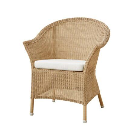 "Cane-line Dining-Sessel ""Lansing"", Polyrattan natur, mit Kissen weiß"