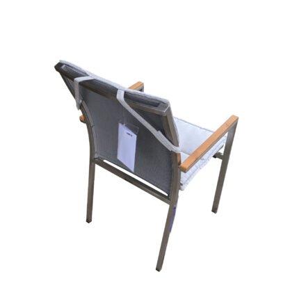 "Gartenkultur Auflage für Jati&Kebon ""Darfo"" Stapelsessel, Sunbrella® shingles"