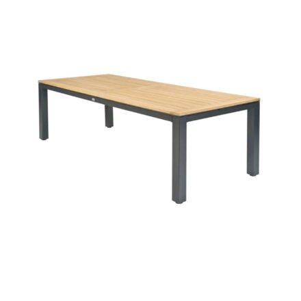 """Tierra Outdoor """"Briga"""" Gartentisch, Gestell Aluminium anthrazit, Tischplatte Teakholz, 240x100 cm"""