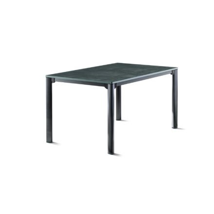 Sieger Gartentisch, Gestell Aluminium eisengrau, Tischplatte vivodur beton-dunkel, 140x90 cm