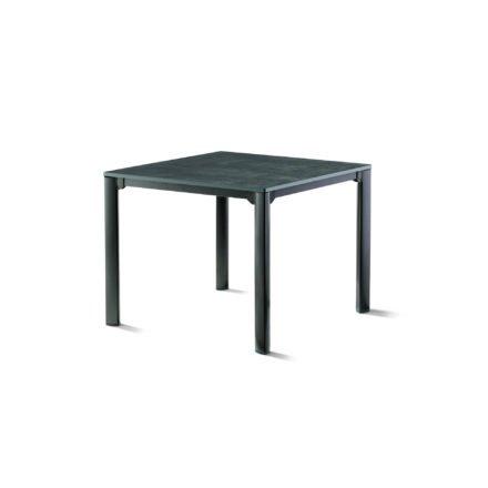 Sieger Gartentisch, Gestell Aluminium eisengrau, Tischplatte vivodur beton-dunkel, 95x95 cm