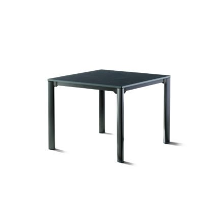 Sieger Gartentisch, Gestell Aluminium eisengrau, Tischplatte vivodur schiefer-anthrazit, 95x95 cm