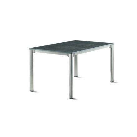 Sieger Gartentisch, Gestell Aluminium graphit, Tischplatte vivodur beton-dunkel, 140x90 cm