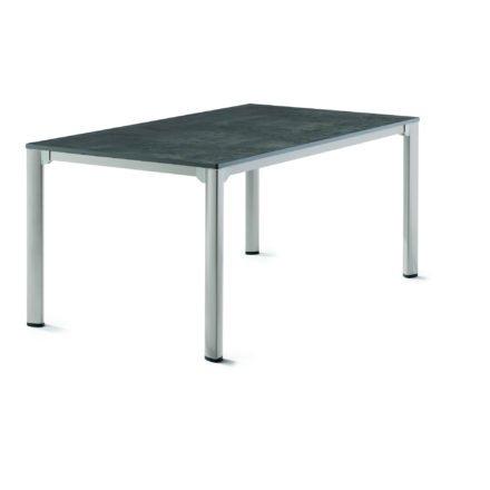 Sieger Gartentisch, Gestell Aluminium graphit, Tischplatte vivodur beton-dunkel, 165x95 cm