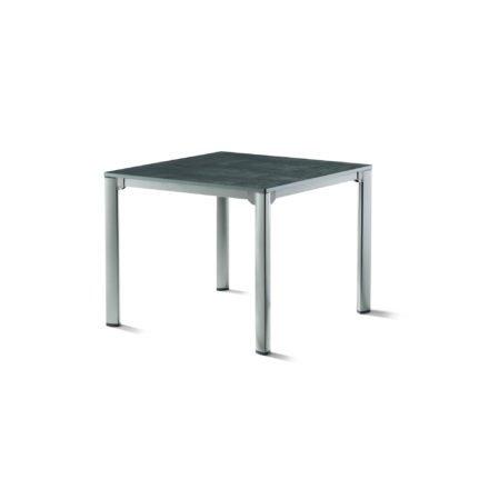 Sieger Gartentisch, Gestell Aluminium graphit, Tischplatte vivodur beton-dunkel, 95x95 cm